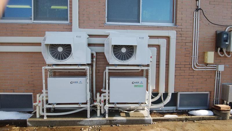 暖房利用実験中
